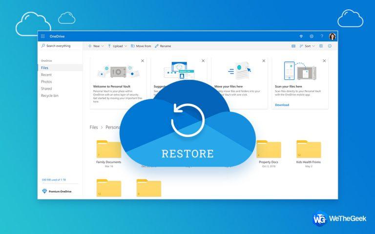 4 способа восстановить данные из OneDrive в Windows 10
