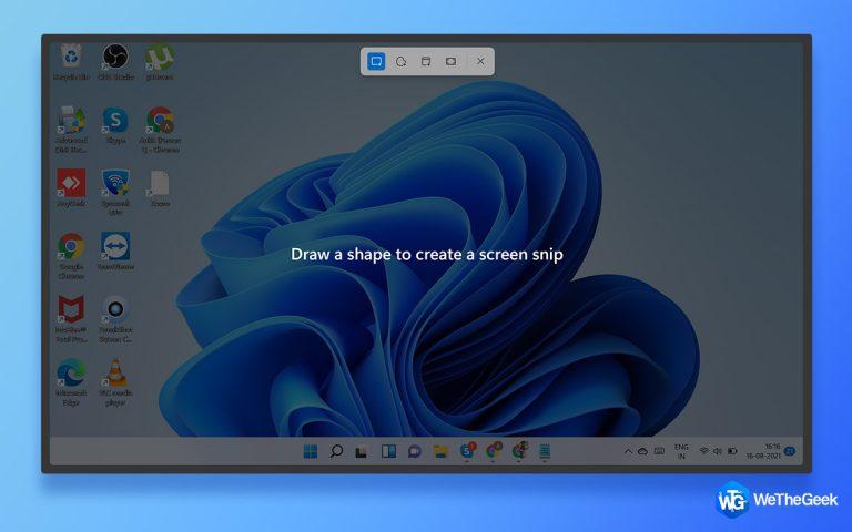 5 способов сделать снимок экрана в Windows 11