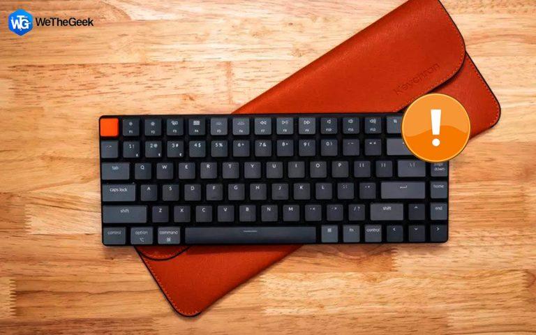 Как исправить задержку беспроводной клавиатуры на ПК с Windows?