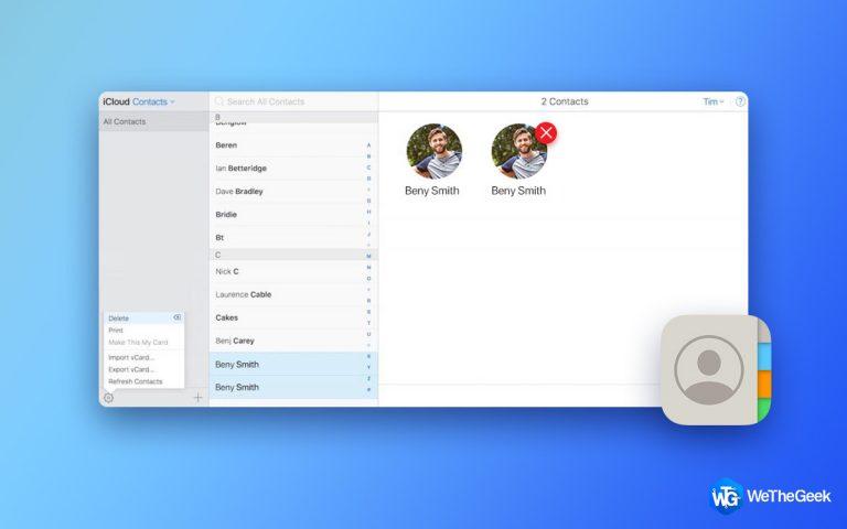 Как удалить повторяющиеся контакты iCloud?