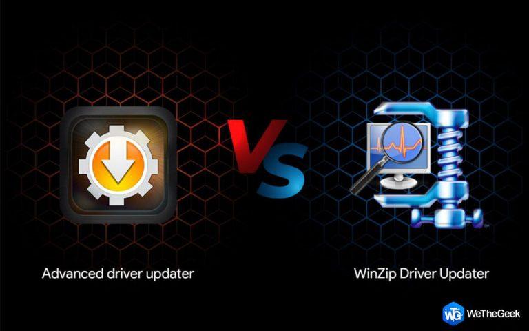 Advanced Driver Updater против WinZip Driver Updater