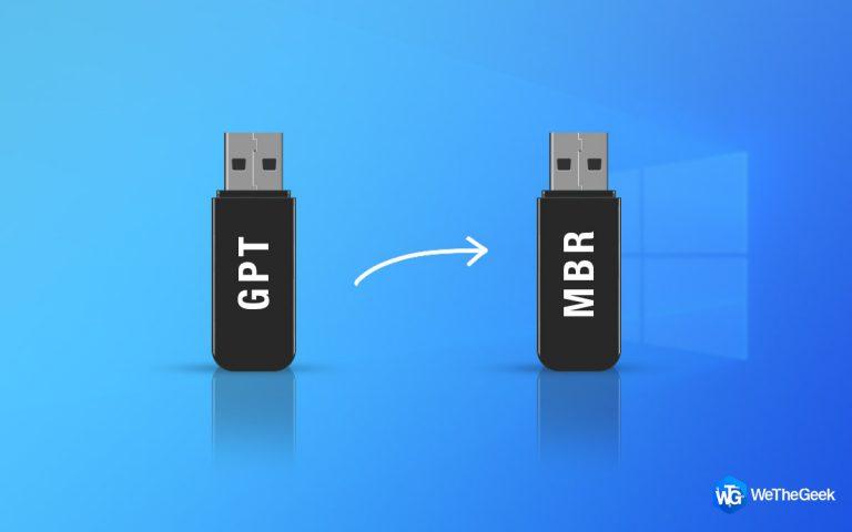 Как преобразовать MBR в GPT без потери данных в Windows 10, 8, 7?