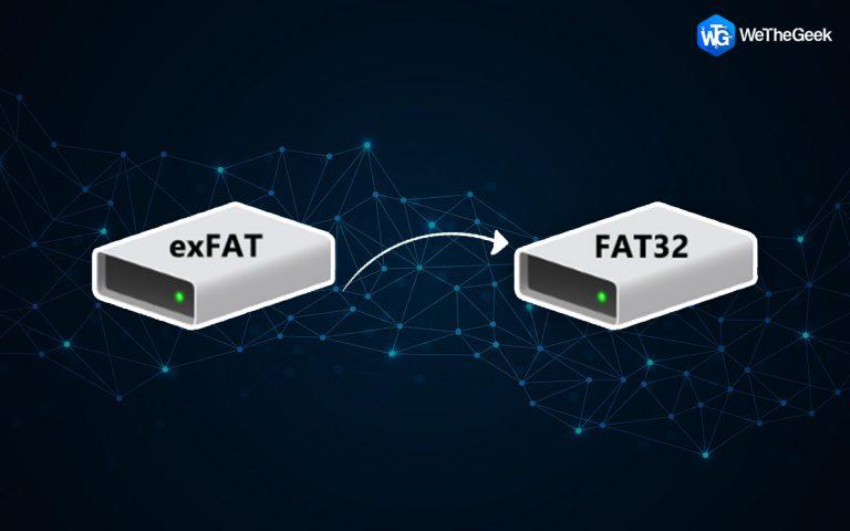 Как поменять EXFAT на FAT32 без форматирования