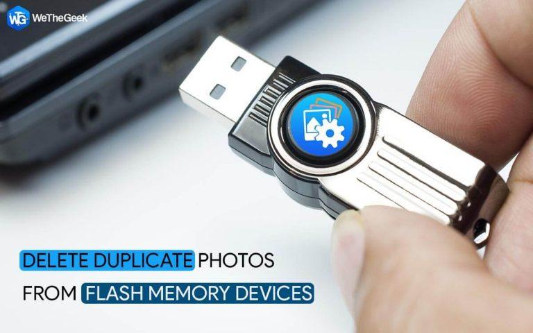 Как удалить дубликаты фотографий на флешке в Windows 10?