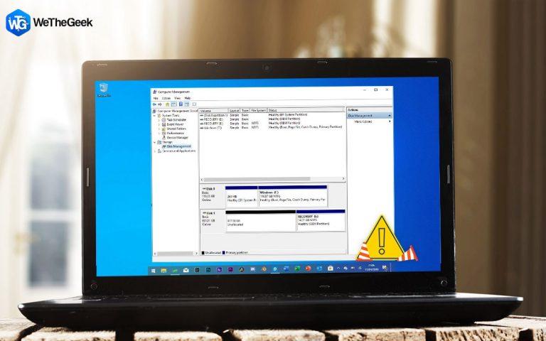 Управление дисками не загружается в Windows 10?  Вот исправление!