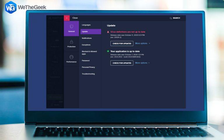 Как исправить проблему «Avast не обновляет описания вирусов» (2021 г.)