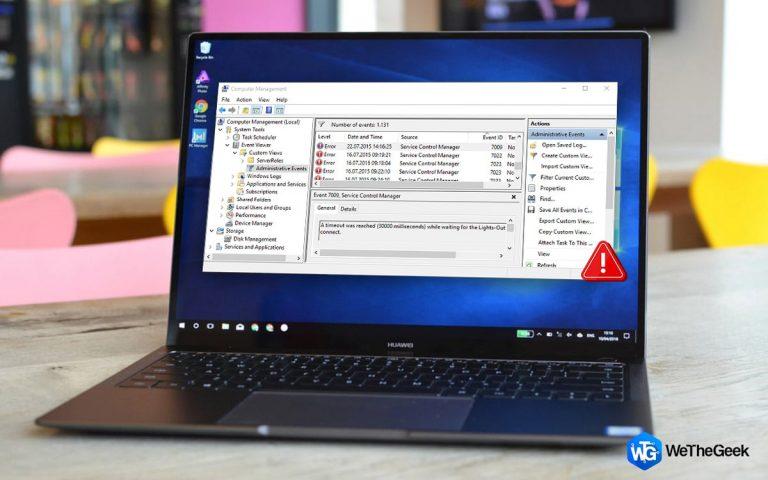 Как исправить ошибку диспетчера управления службами в Windows 10