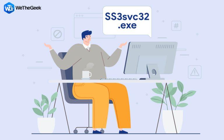 Как исправить SS3svc32.exe при запуске в Windows 10
