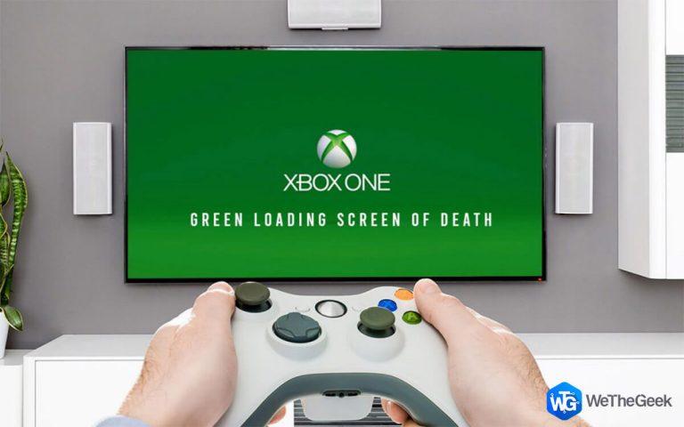 Как исправить застревание Xbox One на зеленом загрузочном экране смерти