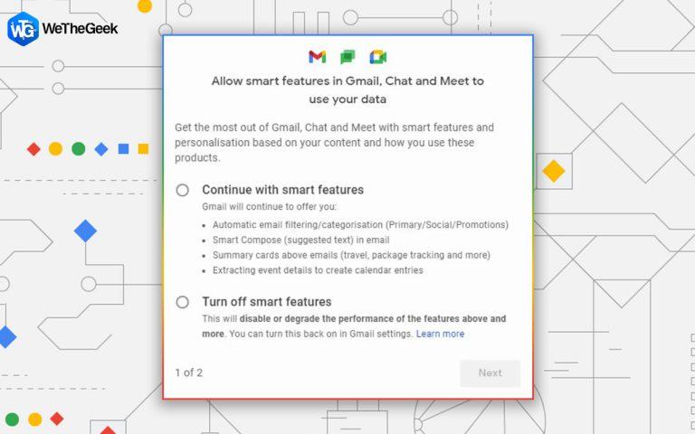 Как отключить интеллектуальные функции Gmail и предотвратить отслеживание?