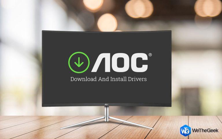 Как загрузить и установить драйвер монитора AOC в Windows 10?