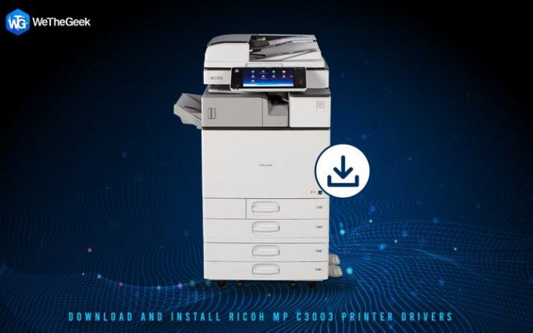Как загрузить и установить драйверы принтера Ricoh MP C3003