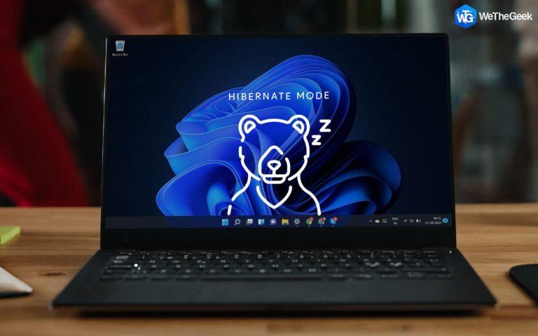 Как включить режим гибернации в Windows 11