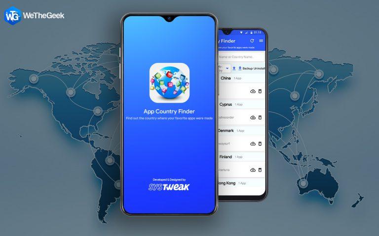 Как найти страну происхождения приложения на устройстве Android