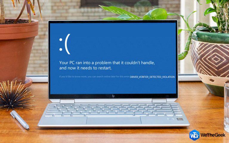 Как исправить ошибку нарушения, обнаруженную программой проверки драйверов в Windows 10