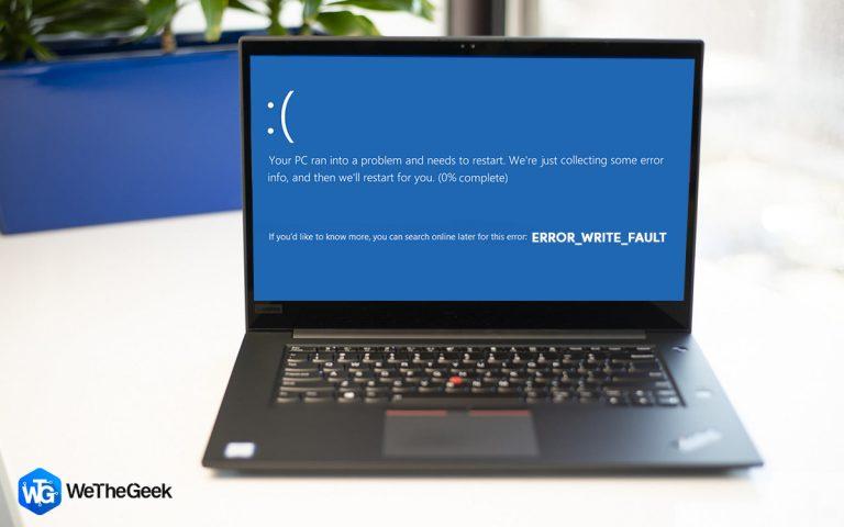 Как исправить ERROR_WRITE_FAULT в Windows 10