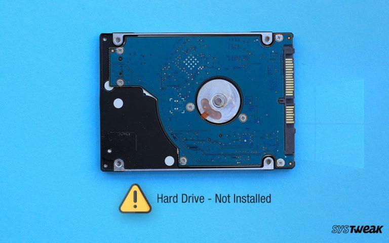 Как исправить проблему с неустановленным жестким диском в Windows 10