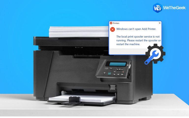Как исправить ошибки диспетчера очереди печати в Windows 10