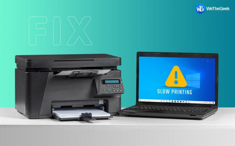 Как исправить медленную печать на ПК с Windows
