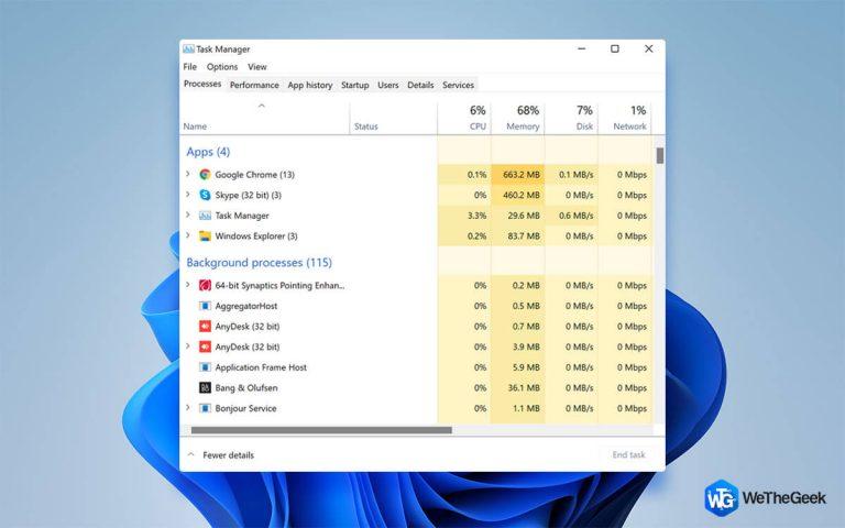 Как исправить высокую загрузку диска в Windows 11