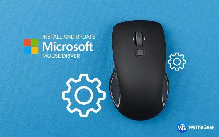 Как установить и обновить драйвер мыши Microsoft в Windows