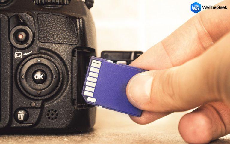 Как восстановить необработанные фотографии с карты памяти вашей камеры?
