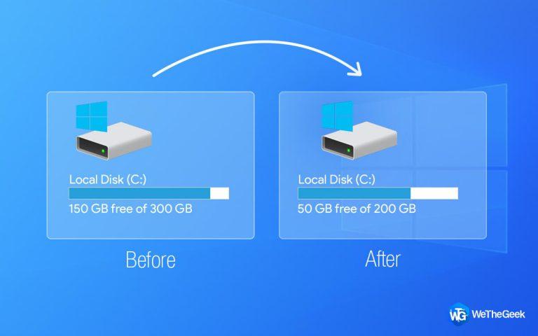 Как уменьшить раздел диска C Windows 10/8/7