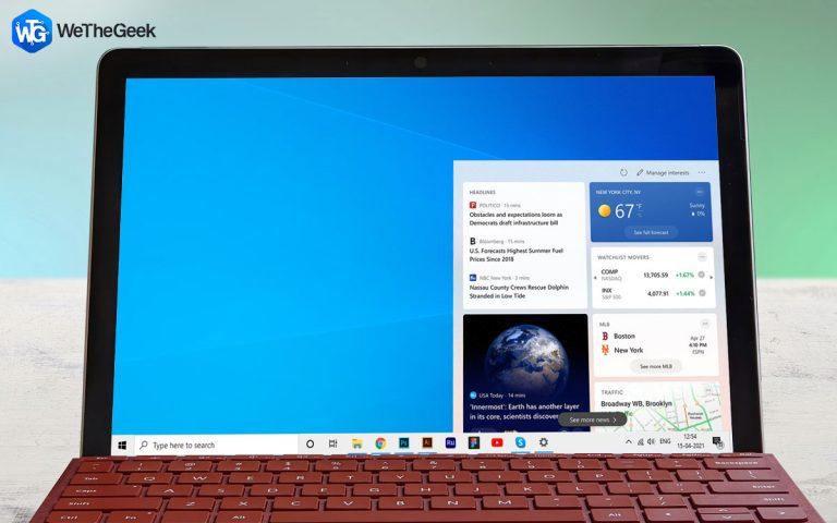 Microsoft запускает панель задач новостей и интересов в операционной системе Windows 10