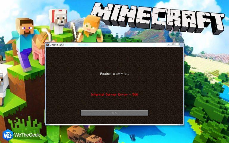 Как исправить внутреннюю ошибку сервера Minecraft Realms 500