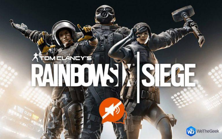 Как исправить голосовой чат Rainbow Six Siege, не работающий в Windows 10?