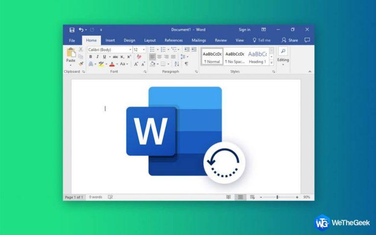 Как восстановить удаленный документ Word в Windows 10