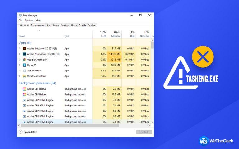 Как удалить вирус Taskeng.exe из Windows 10
