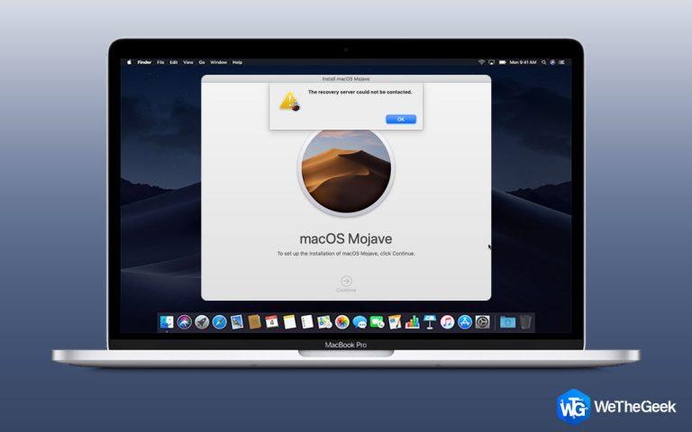 Как исправить ошибку macOS «Не удалось связаться с сервером восстановления»