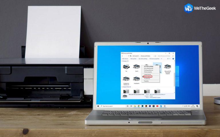 Не удается удалить принтер из Windows 10?  Вот исправление!