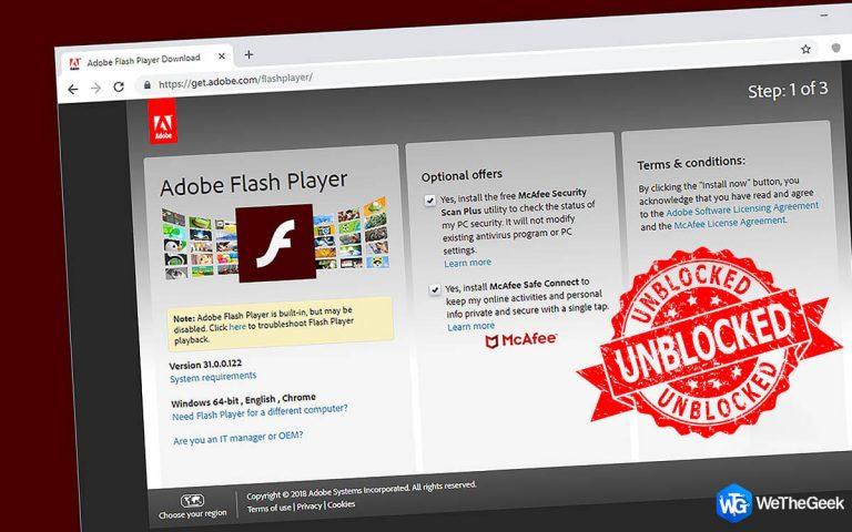 Как разблокировать Adobe Flash Player [Chrome, Edge, Firefox]
