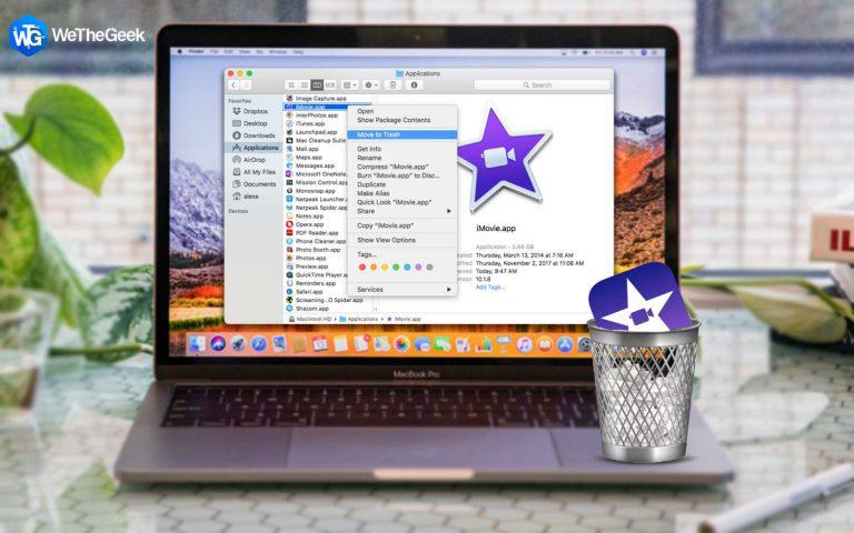 Как правильно удалить iMovie на Mac