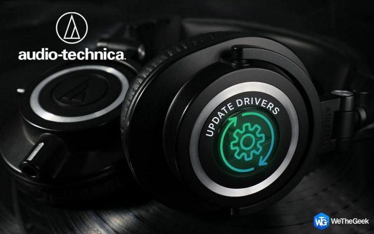 Как обновить драйверы Audio Technica в Windows 10