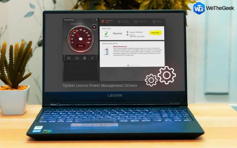Как обновить драйверы управления питанием Lenovo в Windows 10?