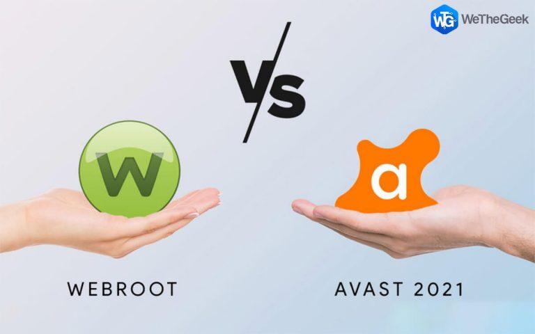 Webroot против Avast 2021 |  Полное руководство по сравнению