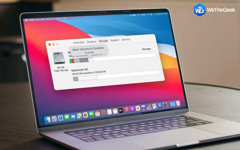 Как удалить другие тома из контейнера на Mac