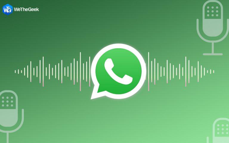 Обновление WhatsApp представляет новые функции для голосовых сообщений