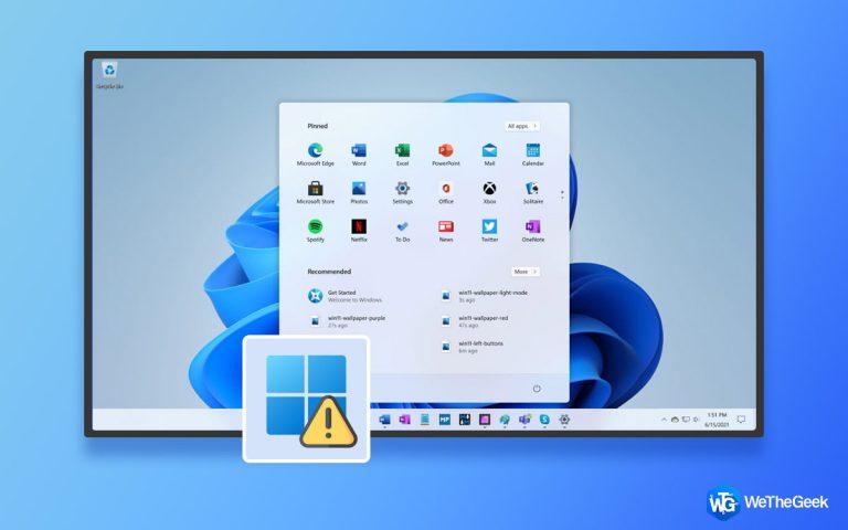 Как исправить неработающую кнопку Пуск в Windows 11
