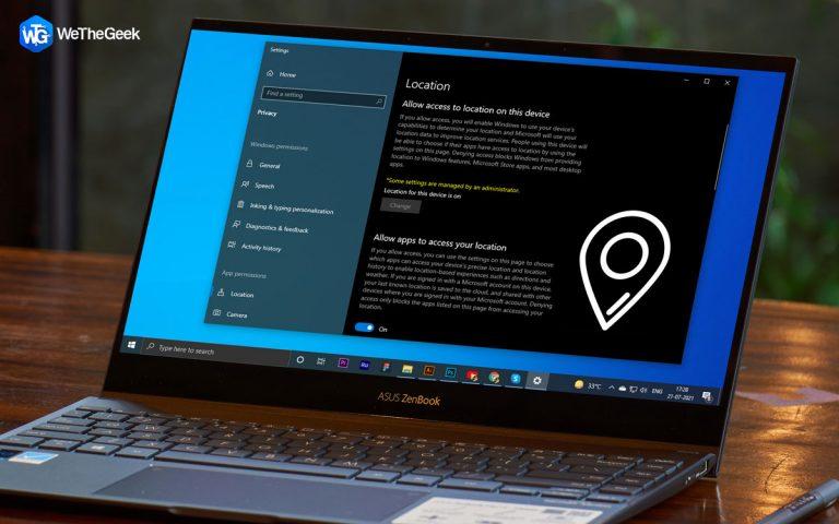 Предупреждение «Ваше местоположение недавно было доступно» в Windows 10