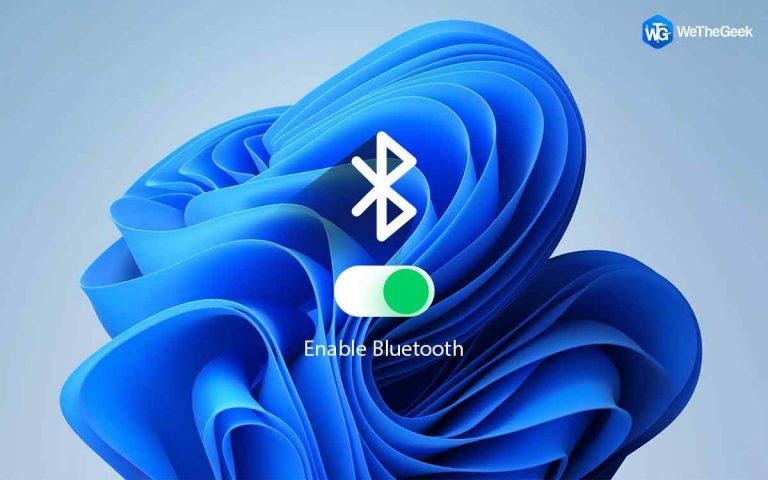 Как включить Bluetooth в Windows 11
