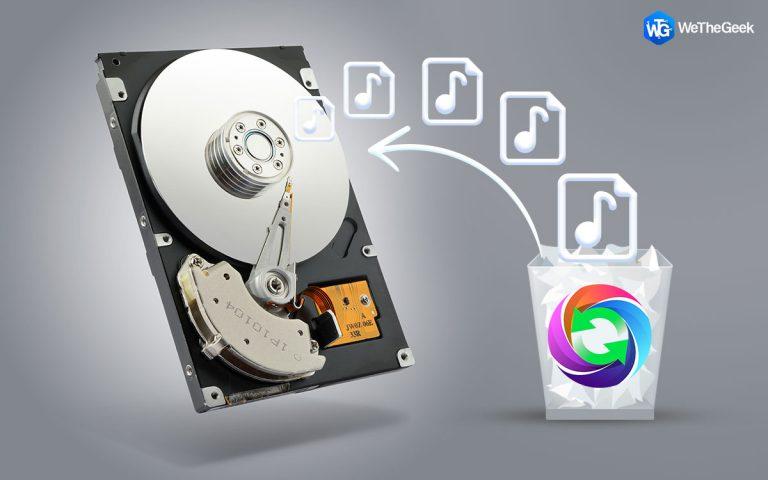 Как восстановить удаленные аудиофайлы с жесткого диска