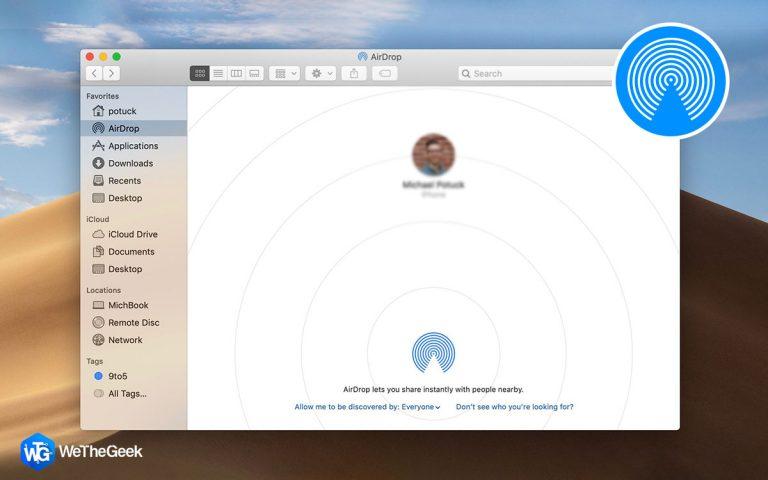 Как использовать и включить AirDrop на Mac
